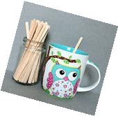 "5""Wooden Coffee Stirrers, Beverage Stirrers, Hot Cocoa"