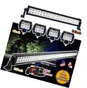 "50"" + 24Inch LED LIGHT BAR +4X 4INCH CREE WORK PODS OFFROAD"