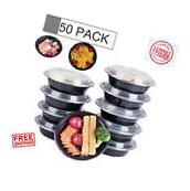 50 Meal Prep Containers Food Storage 1 Compartment Plastic
