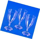 50 PLASTIC WINE GLASSES 8 oz Wedding Party Cups Disposable