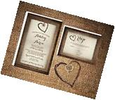 Wedding Invitations Fall Tree & Wood Rustic Country 50