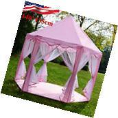 55″ Large Girls Pink Princess Castle Playhouse Children