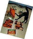 6 BEISTLE-VINTAGE-STYLE-HALLOWEEN��DECOR! 1BLACK CAT+