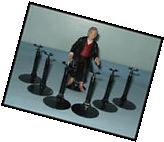 "6 BLACK Action Figure DISPLAY STANDS fit 3.75"" to 5"" JUSTICE"
