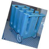 Cambro 6 Column NSF Hotel Restaurant Push Dish Dolly Cart