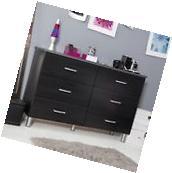 6 Drawer Dresser Storage Chest For Bedroom Black Furniture