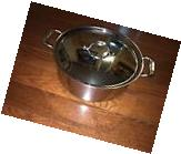 All Clad 6 Qt Pot - Tri Ply Stainless Steel - New with Lid