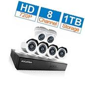 LaView 6 Camera | 8 Channel 720p HD Security System w/ 1TB