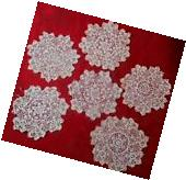 """6 Vintage  hand crocheted lace doilies coasters  5"""""""