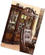 ACME 60078 Winfred Hutch and Buffet China Cabinet, Cherry