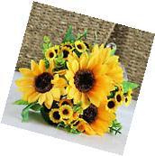 7 Heads Beauty Fake Sunflower Artificial Silk Flower Bouquet