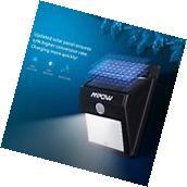 Mpow 8 LED Solar Light PIR Sensor Wall Light Waterproof Outdoor Garden Lamps New
