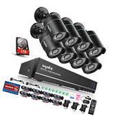 SANNCE 8CH 1080N HDMI DVR Outdoor 1080P HD Video CCTV