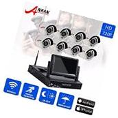 ANRAN 8CH 720p HD P2P Outdoor Wireless Home Security Camera