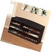 9-Cube Shoe Rack Wood Storage Organizer Cabinet Bench