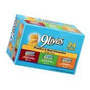 9 Poultry & Beef Favorites Variety Pack Cat Food 132 OZ