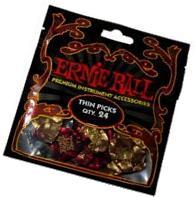 Ernie Ball Thin Pearloid Picks, Bag of 24