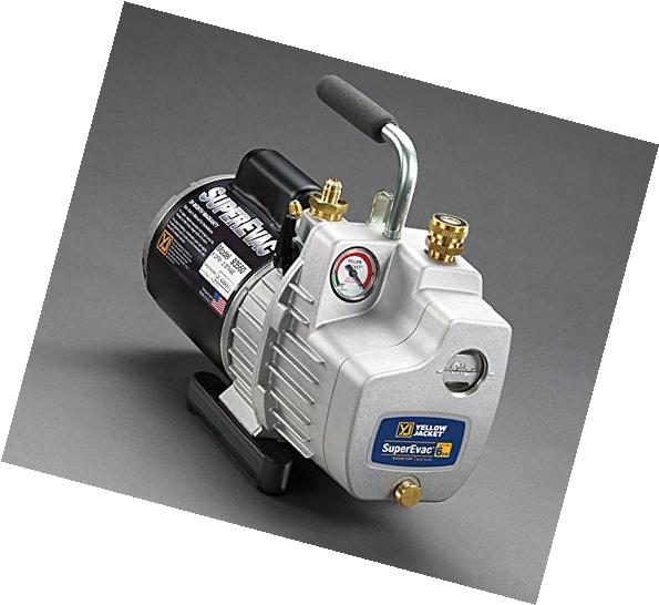 Yellow Jacket 93580 SuperEvac Vacuum Pump, 8 Cfm; 115V, 60