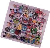 Disney Pin Trading Lot of 100 Assorted Pins - No Doubles -