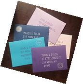 Envelope Ruler Set of 5 Colored Envelopes with 1 Addressing