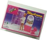 Gloria, Barbie Doll House Furniture/ Washroom Play Set