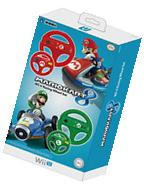 Hori - Mario Kart 8 Racing Wheel Set For Nintendo Wii U -