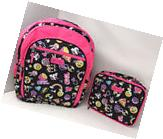 Justice for Girls Cute Emoji Set ~Backpack & Lunch Box~ NWT