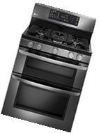 Lg - 6.1 Cu. Ft. Freestanding Double Oven Gas Convection
