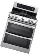 Lg - 6.9 Cu. Ft. Self-cleaning Freestanding Double Oven Gas