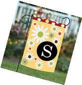 NEW Toland - Floral Monogram S - Colorful Spring Flower