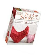 Toe-Up Socks in a Box :  Essential Sock Techniques and 20 Toe-Up Patterns from Wendy Knits
