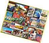 Travel By Train - 1000 Piece Puzzle - White Mountain Puzzles