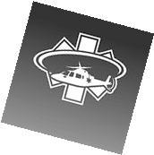 A109 Star of Life Sticker Medic EMS Star Augusta 109 Med