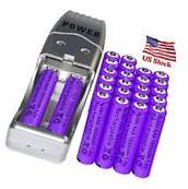 24x AAA 3A 1800mAh 1.2 V Ni-MH Rechargeable Battery Purple +