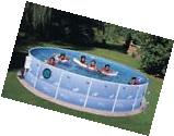 Above Ground Pools Metal Frame Round Swimming 15' Water