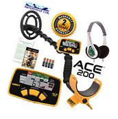 Garrett ACE 200 Metal Detector with Waterproof Search Coil
