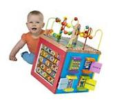 Baby Activity Cube Wooden Infant Toddler Play Center