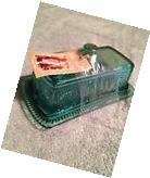 Pioneer Woman  Adeline Teal  Covered  Butter Dish Pressed