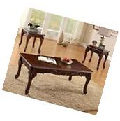Furniture of America Alice 3 Piece Coffee Table Set in Dark