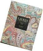 """Ralph Lauren Almada Paisley Tablecloth 70"""" Round Teal Red"""