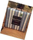 NAUTICA Alongshore Stripe Full Queen 3 Pc Quilt Shams Set