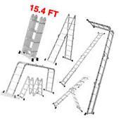 12.5 FT Multi Purpose Aluminum Ladder Folding Step Ladder