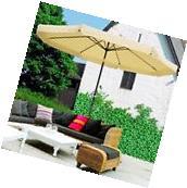 10Ft 8 Rib Outdoor Patio Umbrella Market Valance Crank