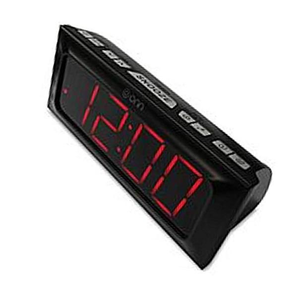 "ONN Digital AM/FM Clock Radio Large 2x7"" LED Display DUAL"