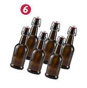 16 oz Amber Glass Beer Bottles for Home Brewing 6 Pack with