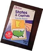 American 50 U.S. States Flash Cards - Great for students to