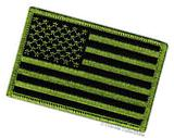 AMERICAN FLAG EMBROIDERED PATCH iron-on GOLD BORDER USA US
