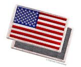 AMERICAN FLAG EMBROIDERED PATCH WHITE BORDER USA US w/