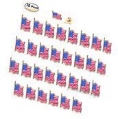 30pcs AMERICAN FLAG LAPEL PINS United States USA Hat Tie