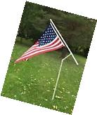 American Flag and Flag Pole Kit New United States Banner USA